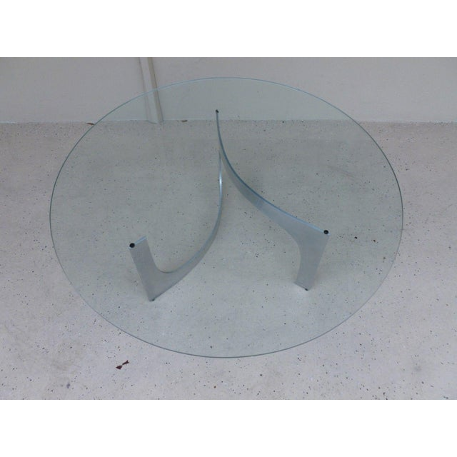 Mid-Century Modern Mid Century Modern Aluminum Sculptural Table by Knut Hesterberg by Bacher Tische For Sale - Image 3 of 11