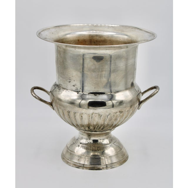 Vintage Mid Century Modern Silver Plate Champagne Ice Bucket For Sale In Tulsa - Image 6 of 13