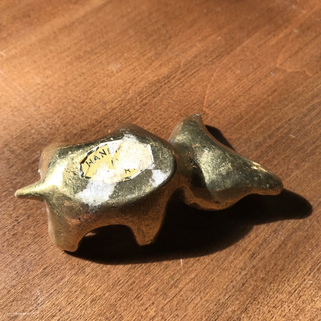 Brass Walter Bosse Brass Cat For Sale - Image 7 of 11