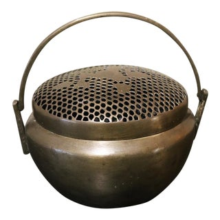 Antique Brass Handwarmer For Sale