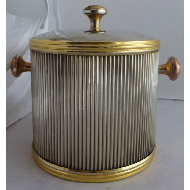 Vintage Brass & Chrome Ice Bucket - Image 7 of 7