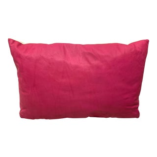 Custom Fuchsia Leather Pillow For Sale
