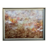 Image of Vintage Abstract Painting Mixed Media For Sale