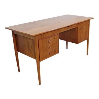 Mid-Century Danish Modern Ap Mobler J Svenstrup Teak Executive Desk For Sale