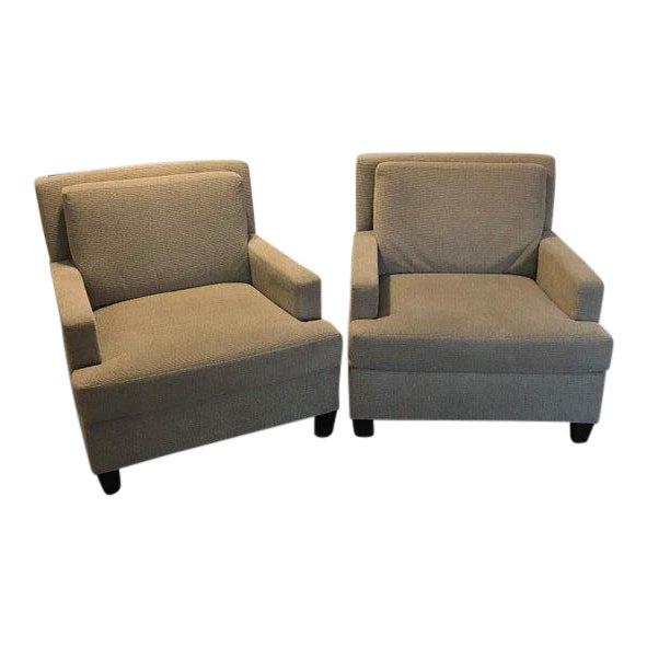 Modern Martin Brattrud Edinburg HB Chairs With Knoll Fabric - A Pair For Sale