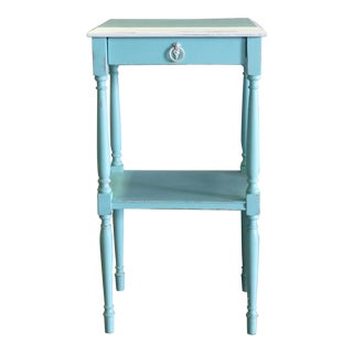 Vintage Turquoise Nightstand For Sale