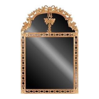 1990s Italian Louis XIV Style Gold Gilt Mirror For Sale