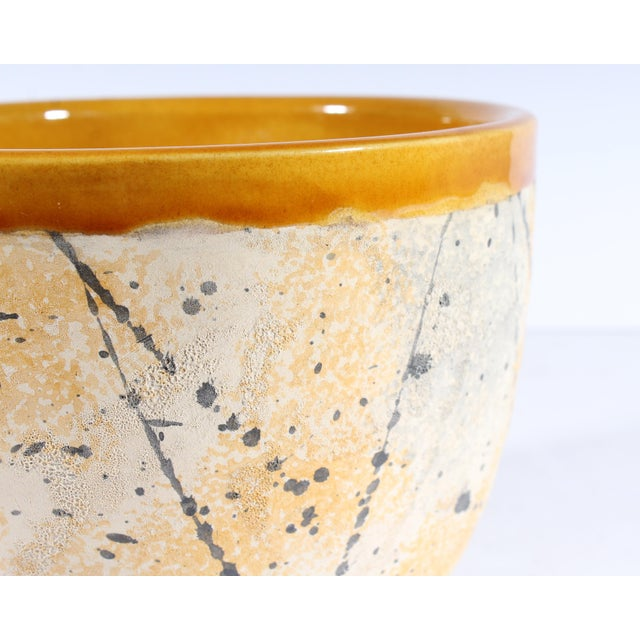 Bitossi Bitossi Italian Ceramic Yellow and Gray Speckle Planter For Sale - Image 4 of 7