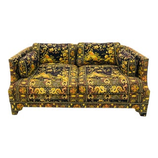 Vintage Chinoiserie Chintz Loveseat by Drexel Heritage For Sale