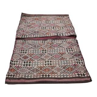 1950s Vintage Turkish Tribal Handwoven Kilim Saddle Bag For Sale
