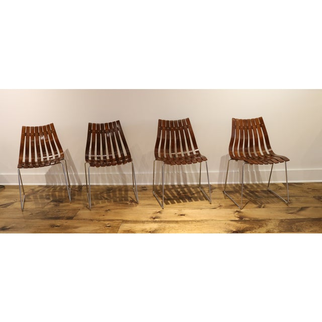 Skandia Rosewood Dining Chairs - Set of 4 - Image 8 of 10