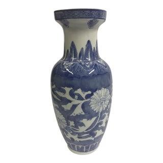 Delft Ceramic Floral Vase For Sale