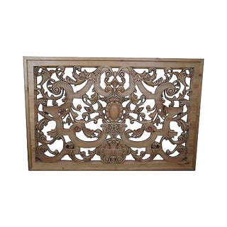 Outstanding Carved Wood Hanging Rococo Style Wall Plaque (B) For Sale