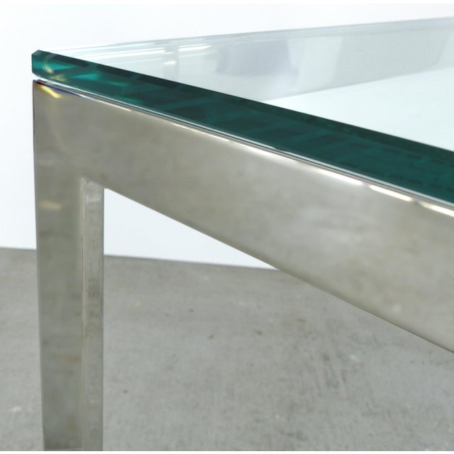 Contemporary Italian Stainless Steel & Glass Cube Coffee Tables, Two Available For Sale In Miami - Image 6 of 9