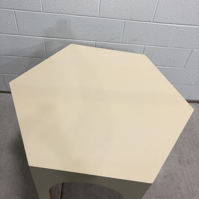 Baker Furniture Middle Eastern Style Tangier Center Hall Hexagonal Lacquered Table For Sale In Baltimore - Image 6 of 12