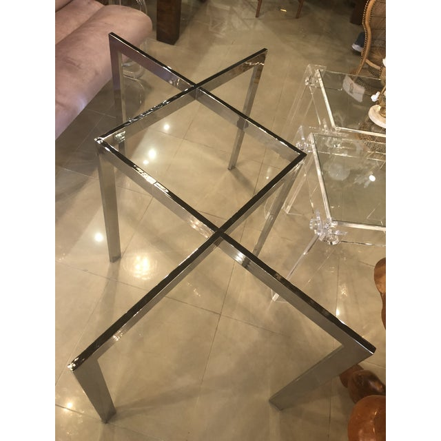 Metal Vintage Milo Baughman Thayer Coggin Chrome Dining Table For Sale - Image 7 of 12