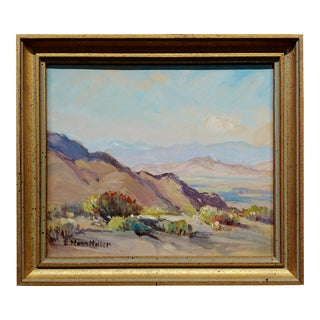Evylena Nunn Miller -Across the Valley ,1930s California Landscape- Oil Painting For Sale