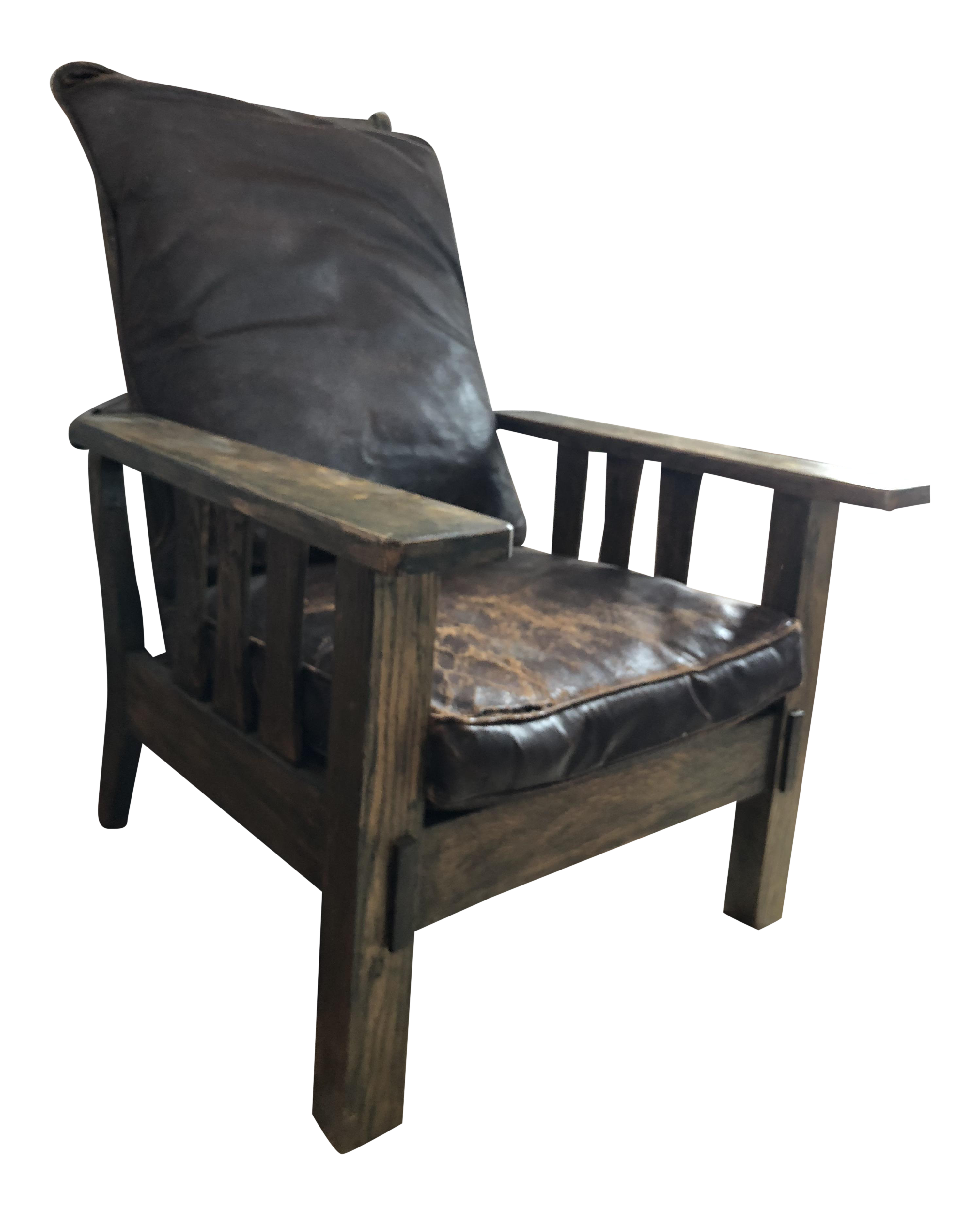 Arts U0026 Crafts Reclining Morris Chair For Sale