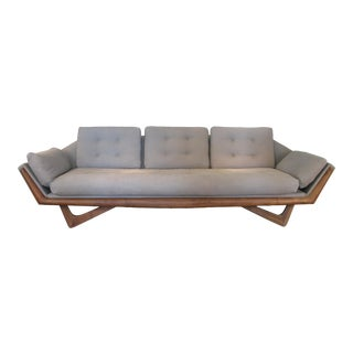 Vintage 1950s Walnut Gondola Sofa by Adrian Pearsall for Craft Associates For Sale