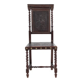 19th-C. Spanish Baroque-Style Ladies Chair