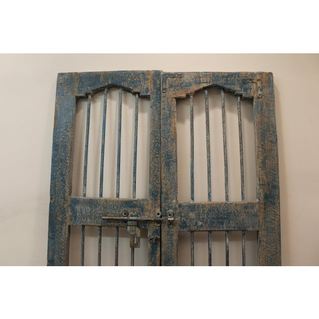 Reclaimed Architectural Wrought Iron Doors - A Pair - Image 6 of 11