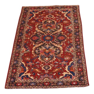 Vintage Hand-Knotted Persian Bakhtiari Wool Rug For Sale