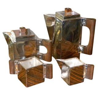 Outstanding Unique Cubist Coffee/Tea Service h.l. Linton, Paris For Sale