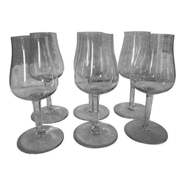 Baccaret Claret Wine Glasses - Set of 6 For Sale