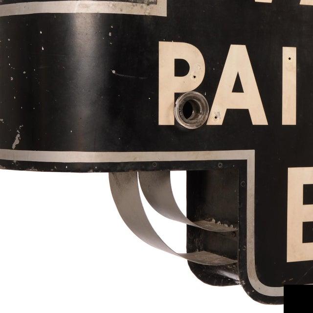 "1930s Art Deco ""Wallpaper, Paint, Varnish, Enamel"" Neon Sign For Sale - Image 5 of 10"