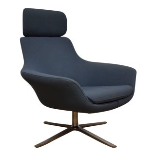 Bob Contemporary Modern Gray Blue Lounge Chair