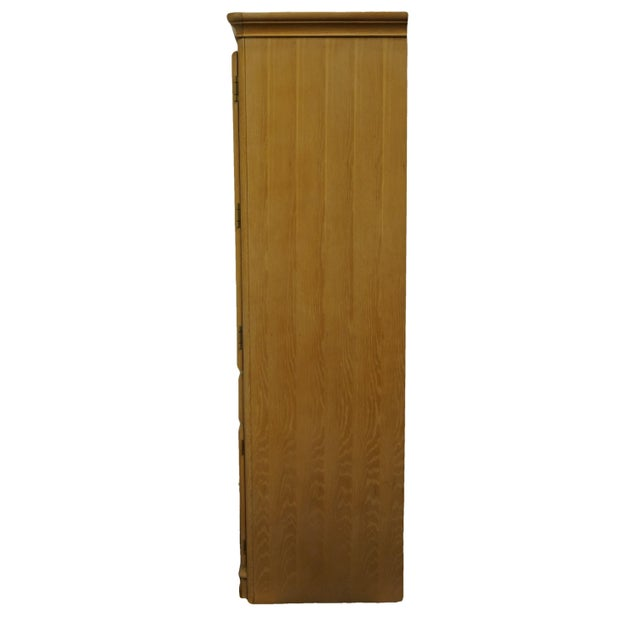"""Stanley Furniture Pickled Oak 42"""" Door Chest/Armoire For Sale - Image 10 of 13"""