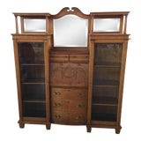 Image of Victorian Side by Side Secretary Desk Bookcase For Sale