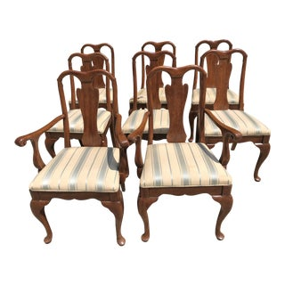 Vintage Henredon Queen Anne-Style Dining Chairs- Set of 8 For Sale