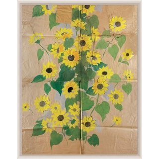 Paule Marrot, Sunflowers, Framed Artwork For Sale