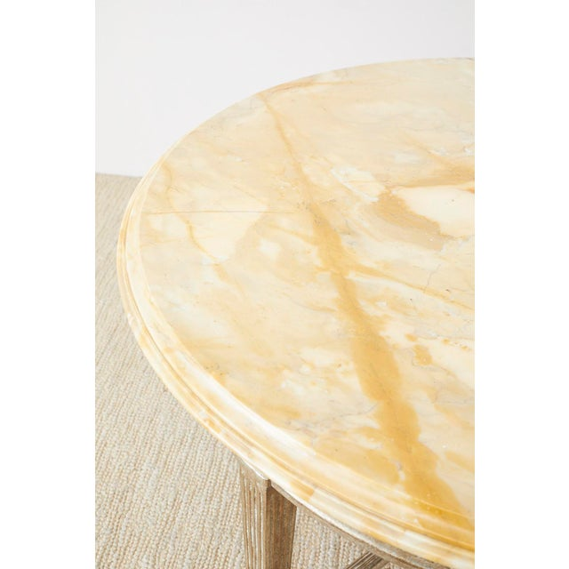Neoclassical Style Silver Gilt Marble-Top Center Table For Sale In San Francisco - Image 6 of 13