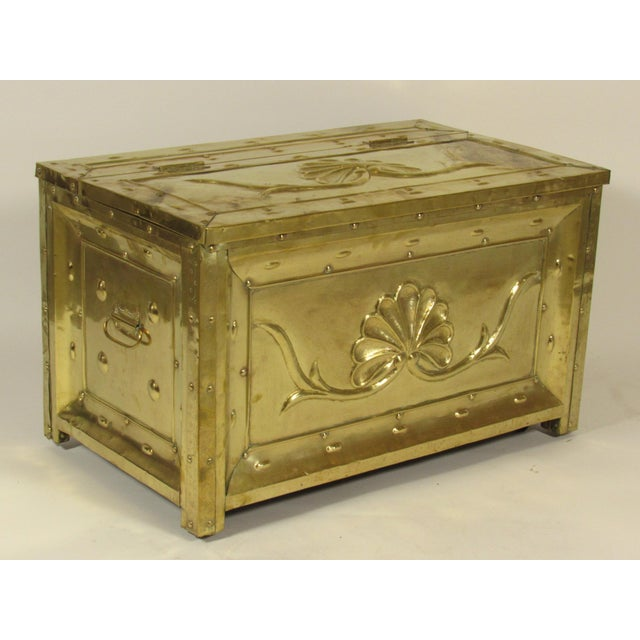 Mid-Century Modern 19th Century Swedish Brass Wood Box For Sale - Image 3 of 8