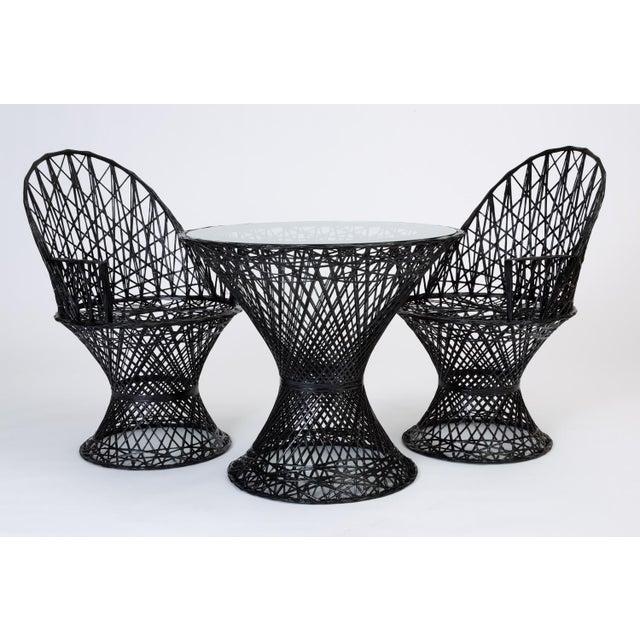 Glass Spun Fiberglass Patio Bistro Table by Woodard Furniture For Sale - Image 7 of 7