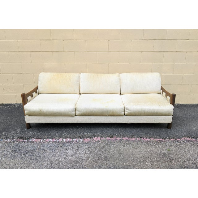Craft Associates Walnut Frame Adrian Pearsall-Style Sofa by Craft Associates For Sale - Image 4 of 10