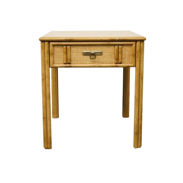 Vintage Mid Century Drexel Captiva Collection Faux Bamboo End Table