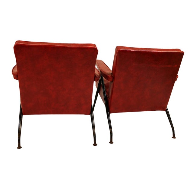 Viko Baumritter Red Lounge Chairs - a Pair - Image 8 of 10
