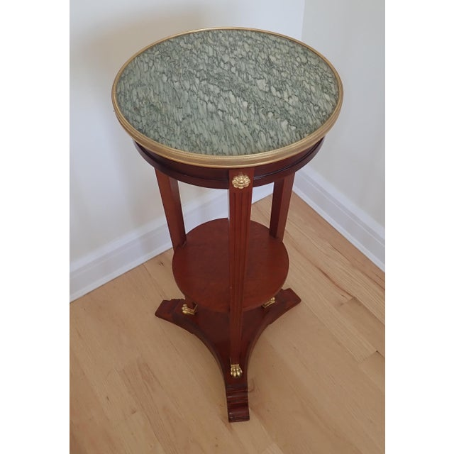 Late 19th Century Mahogany Marble Top Pedestal For Sale - Image 5 of 9