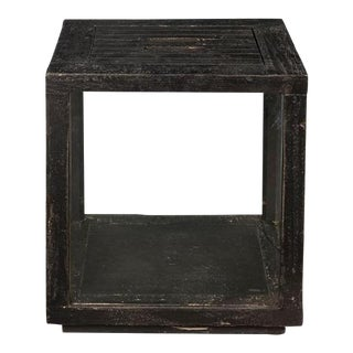 Sarreid Ltd. Weathered Black Candle Stand For Sale