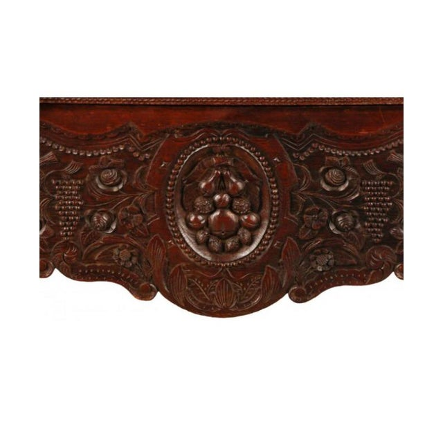 Carved Oak French Armoire - Image 4 of 6