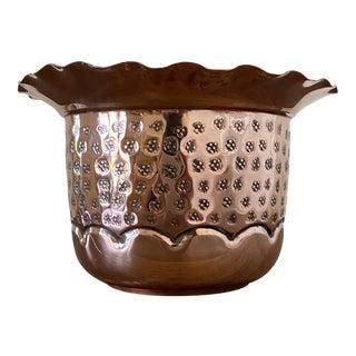 Antique French Copper Garden Pot by Villedieu For Sale