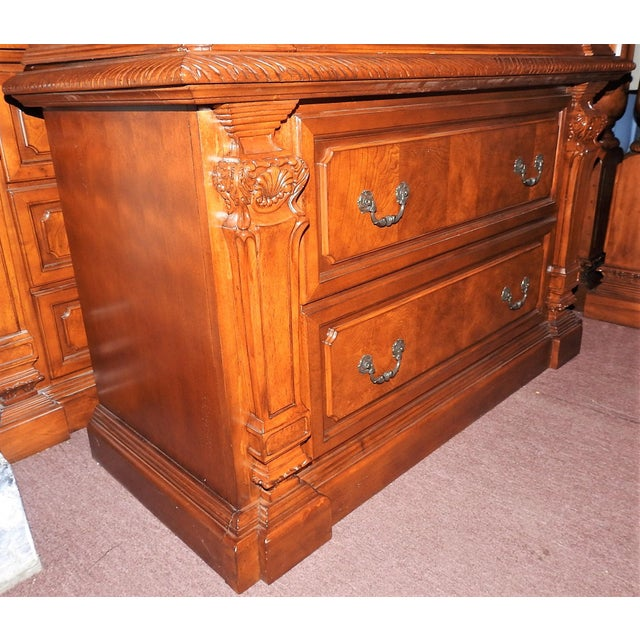 Luxury Cherry Tv Armoire & Dresser Set - Image 8 of 11