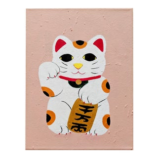Modern Lucky Cat Painting For Sale