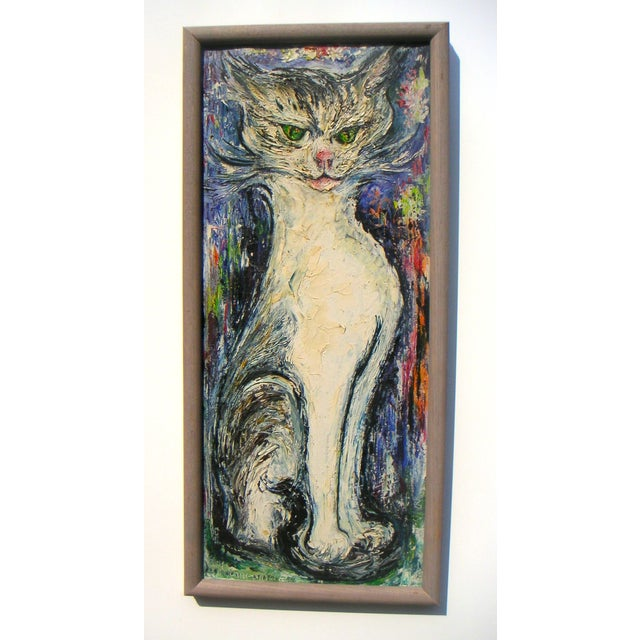 Mid-Century Modern Cat Portait - Image 2 of 5