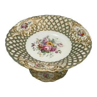 20th Century Antique Dessert Pedestal Platter For Sale
