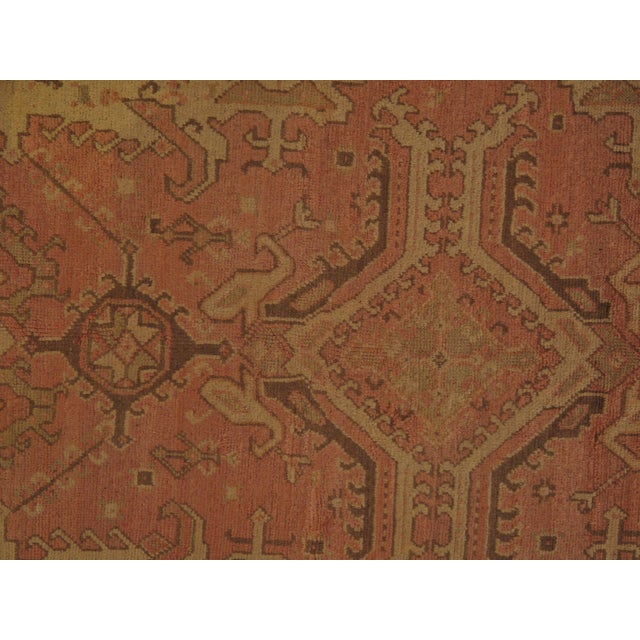 """Islamic Pasargad DC Antique Turkish Oushak Hand-Knotted Rug - 14'8"""" X 26'3"""" For Sale - Image 3 of 5"""