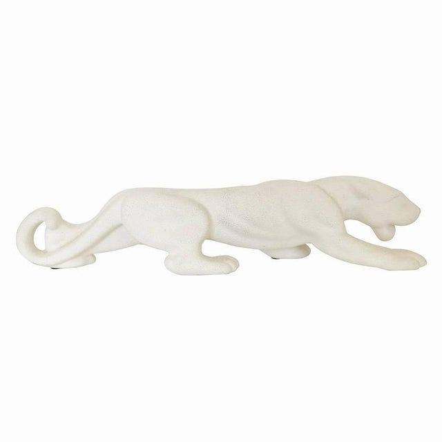 Mid-Century White Panther Art Pottery Statue by Haeger - Image 3 of 6
